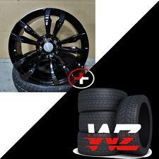 "20"" 468 Style Gloss Black Wheels With Tires Fits BMW X5 X6 X5M X6M xDrive Rims"