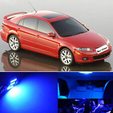 12Pcs Premium Blue Interior LED Lights  Package Kit For Mazda 6 2003-2008