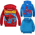 Spider-Man 2Y-8Y Kids Boys Spring Autumn Hoodies Jacket Coat Outwear Clothing
