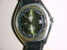 RETRO - TISSOT  37mm SEASTAR AUTOMATIC - GREEN DIAL- CHUNKY STAINLESS STEEL CASE
