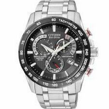 Citizen Men's AT4008-51E Stainless Steel Watch 42mm Black Dial Atomic Timekeepin