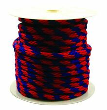 Rope King Sbp-58140br Solid Braided Poly Rope - Blue / Red - 5/8 Inch X 140 Feet