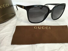 NEW 100% Authentic Gucci Black Frame Sunglasses GG3696/S AM3HD