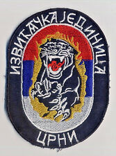 REPUBLIC OF SRPSKA ARMY - RECONNOITRE UNIT BLACK - extremely rare sleeve patch