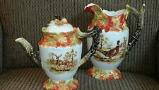 Kaldun & Bogle Hunting Collection Pitcher & Teapot Set Elk Deer Pheasant Bird