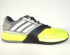 Adidas Crazy Train Boost Solar Yellow & Gray Running Training Shoes Mens 8 NEW