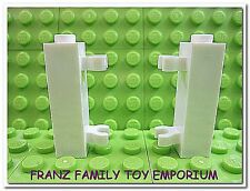 New LEGO Brick Hinges Lot of 2 White 1x1x3 with Clips Friends Gate City Police