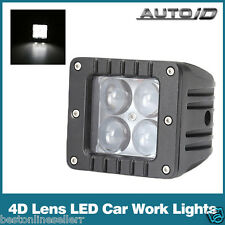 2 Pcs of 20 WATT White 4D Optical Projector lens Car/Bike Cree Led Light Bar
