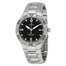 ETERNA SWISS Monterey Automatic Black Watch Eternamatic Wristwatch Diver ETA
