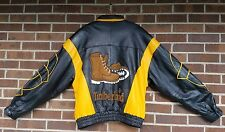Retro Vtg Mens Rare TIMBERLAND Leather Bomber Varsity Jacket Coat 2XL Collectors