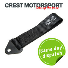 TRS Fixed Tow Eye Strap/Loop BLACK (MSA Compliant) Race/Rally/Competition Car