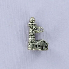 Lighthouse Charm Sterling Silver for Bracelet Harbor Maine Cape Hatteras Boston