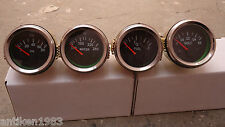 "2"" /52mm  Electrical Oil Pressure + Temperature + Volt+ Fuel Gauge -Black Chrome"