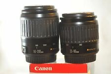 Canon EF 35-80mm 80-200mm TWO lens SET for EOS Rebel T5 T6 40D 50D 5D 7D 60D 70D