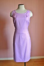 JCrew Tall Emmaleigh Dress in Super 120s Wool 12T 12 Bright Lilac 87261 Suit