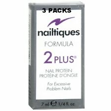3 PACKS - Nailtiques Formula 2 PLUS Nail Protein Treatment 1/4 ml (0.25 oz)