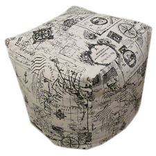 "Nautical Theme Bean Cube Foot Stool Seat Pouffe 45cm (18"") Handmade - Cover Only"