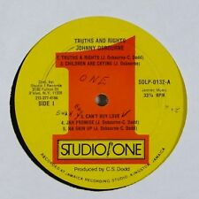 "Johnny Osbourne ""Truths and Rights"" Reggae LP Studio One"