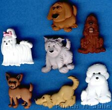 PUPPY PARADE - Dog Pup Doggy Show Animal Pet Novelty Dress It Up Craft Buttons