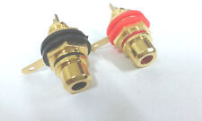 6pcs RCA Phono Chassis Panel Mount Female Socket adapter Gold Plated