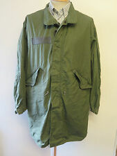 Vintage M-65 US Military Olive Fishtail Extreme Cold Weather Parka Jacket Size S