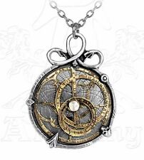 Anguistralobe Astrolabe Steampunk Pendant Pewter & Brass by Alchemy Empire P188