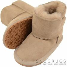 Childrens / Kids / Babys Sheepskin Boot / Booties with Ripper Tab Fastening