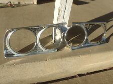 1963 FORD FAIRLANE 500 SPORT COUPE SQUIRE WAGON HARDTOP SEDAN HEADLAMP BEZELS 63