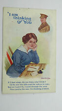 WW1 Vintage Comic Postcard Tommy Soldier Western Front Love Letter From Home
