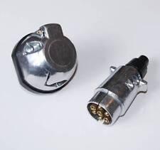 Towing Electrics 7 Pin Plug & Socket 12N Type Aluminium Trailer Caravan