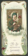 Estampa antigua Virgen del Perpetuo Socorro andachtsbild santino holy card