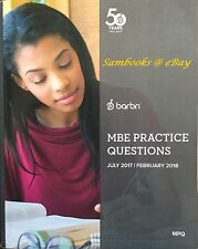 2017 ~ 2018 BarBri MBE MULTISTATE PRACTICE QUESTIONS (MPQ) -- FREE SHIP!