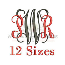 Vine Intertwined Alphabet Embroidery Fonts Machine Embroidery Design IMFCD4