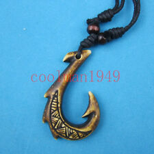 cool New Zealand Maori Fish Hook Pendant Necklace RH144