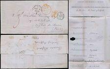 Escocia a Francia 1855 pagado en Edimburgo + Londres tránsito 8d Earl Gifford