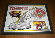 1998 IRON CITY BEER & THREE RIVERS STADIUM PIRATES FRAMED AD PRINT