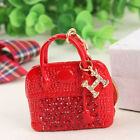 Red Handbag Lady Girl Creative Pendent Charm Purse Bag Key Ring Chain Wholesale