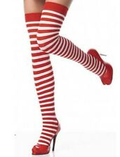 Ladies Sexy Santa Tights Stockings Womens Christmas Fancy Dress Costume