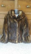 New design real golden brown fitch sable family fur coat