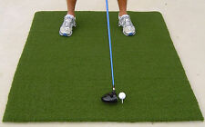 """Golf Tee Mat Monster Thick Turf 48"""" x 60"""" Rubber Practice Trainer Nylon Green"""
