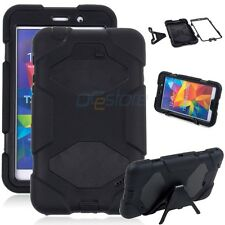 "For Samsung Galaxy Tab 4 7.0"" T230 Black Tablet Armor Rugged Cover Hard Case"