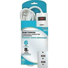 POWER ZONE OR802126 Surge 6 Outlet with 1000J with 8-Feet Cord