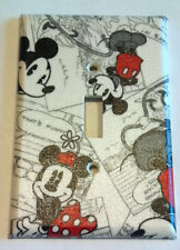 Retro Mickey Mouse Minnie Light Switch Cover Bathroom Bedroom Kitchen Wall Decor