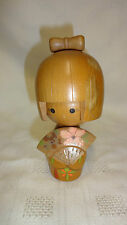 Vintage Hand Painted Signed Japanese Wooden Geisha Doll / Figure (ref 2)