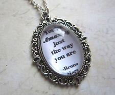 Valentines Bruno Mars Amazing Just the Way You Are Silver Necklace New in Bag