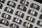 Wholesale Lots 10ps Mixed Pattern Gothic Men's Fashion Stainless Steel Rings New