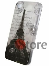 Cover Custodia Rigida Per iPhone 4 4S Pariggi Tour Eiffel Mail Pellicola Display