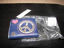 "NEW NWT *TORY BURCH* ""Peace Mini Wallet"" in Navy Sea  Heart"