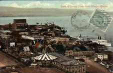 POST CARD  QUEBEC  CANADA  VIAGGIATA 1910   VIEW OF LOWER TOWN FROM CITADEL