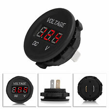 FOR CAR UNIVERSAL RED DIGITAL LED12-24V VOLT VOLTAGE VOLTMETER GAUGE WATERPROOF